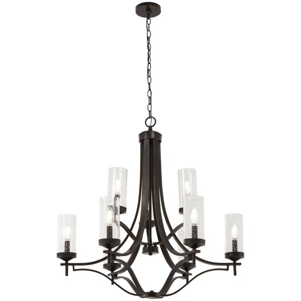 Minka Lavery Elyton 9-Light Downton Bronze With Gold Highl Chandelier