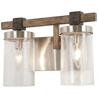 Minka Lavery Bridlewood 2-Light Stone Grey W/Brushed Nickel Bath