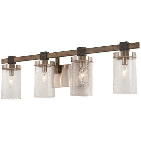 Minka Lavery Bridlewood 4-Light Stone Grey W/Brushed Nickel Bath