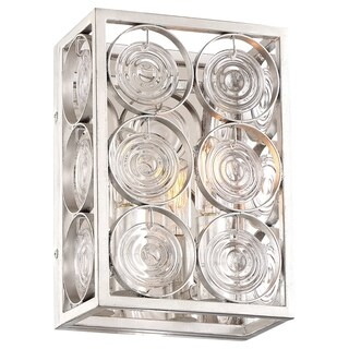 Minka Lavery Culture Chic 2-Light Catalina Silver Wall Sconce