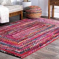 nuLOOM Contemporary Endless Doorways Multicolor Red Kids Rug (8' x 10') - 8' x 10'