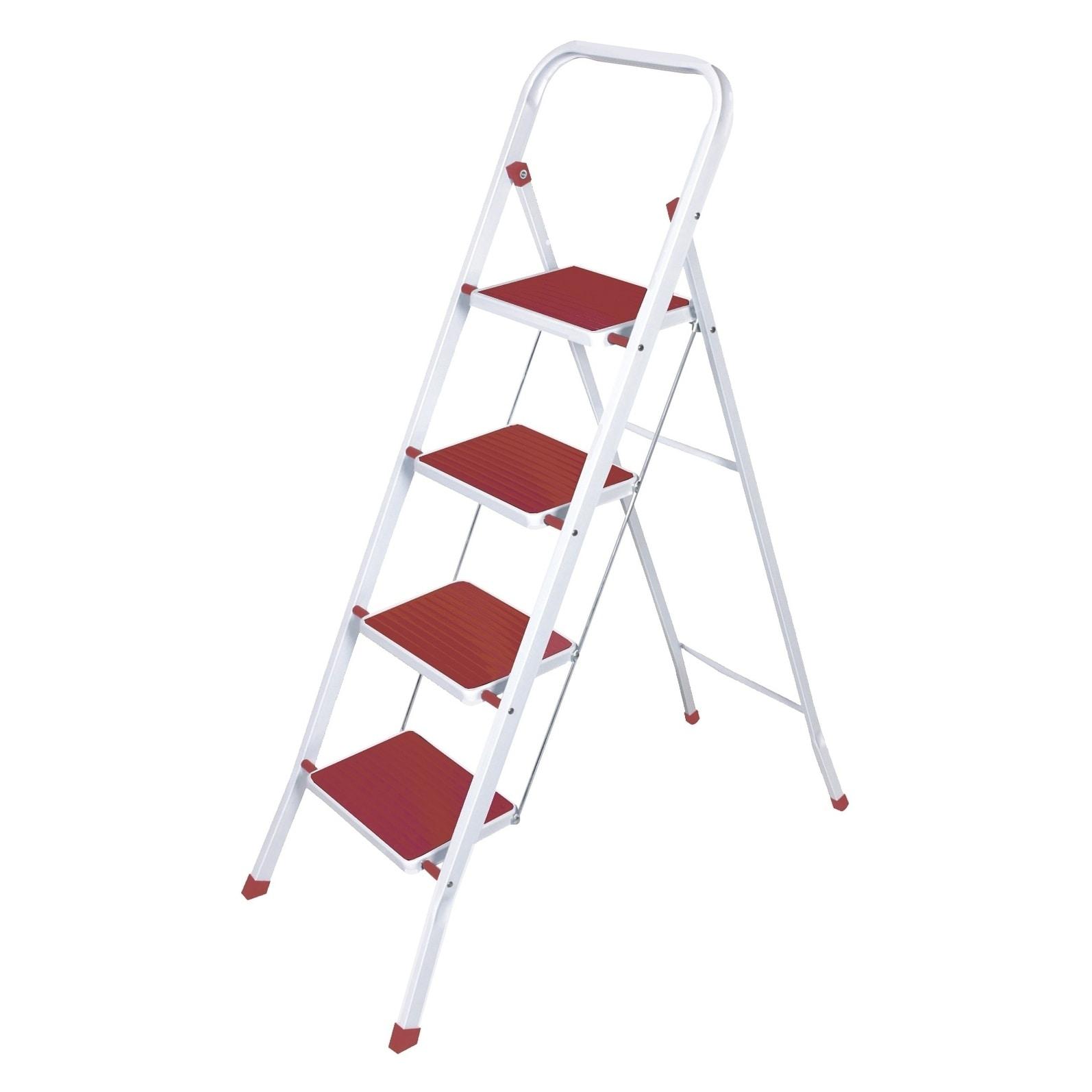 wee's beyond heavy duty red nonslip 4 step ladder