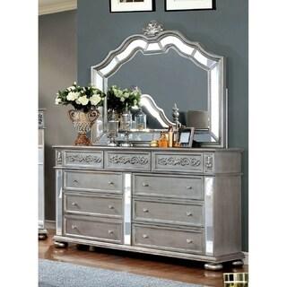 Furniture of America Zeln Silver 2-piece Dresser and Mirror Set