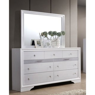 Furniture of America Adielle Contemporary 2-piece Dresser and Mirror Set