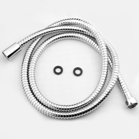 "AKDY SH0070 5Ft Extra Long 60"" Stainless Steel Standard Bath Handheld Shower Head Pipe Hose"