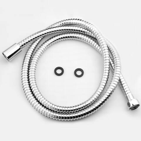 "AKDY SH0070 5Ft Extra Long 60"" Stainless Steel Standard Bath Handheld Shower Head Pipe Hose"
