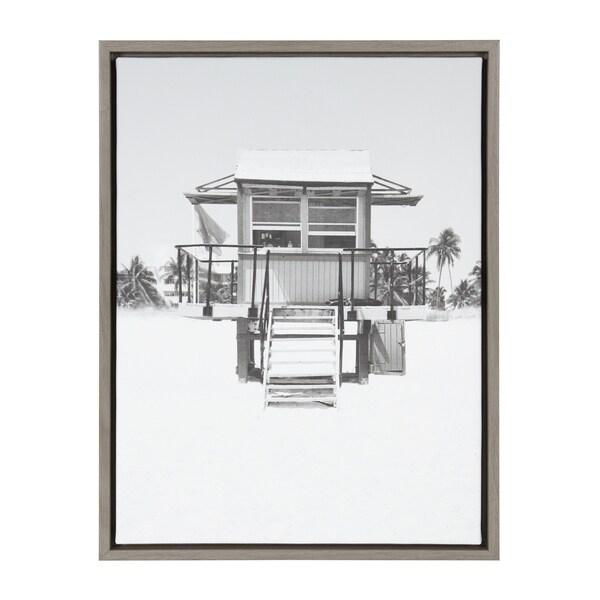 Sylvie Lifeguard Tower Photo Print Framed Canvas Wall Art
