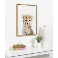Sylvie Baby Cheetah Animal Print Framed Canvas Art by Amy Peterson - N/A