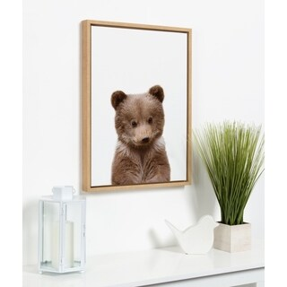 Sylvie Baby Bear Animal Print Framed Canvas Wall Art by Amy Peterson - N/A