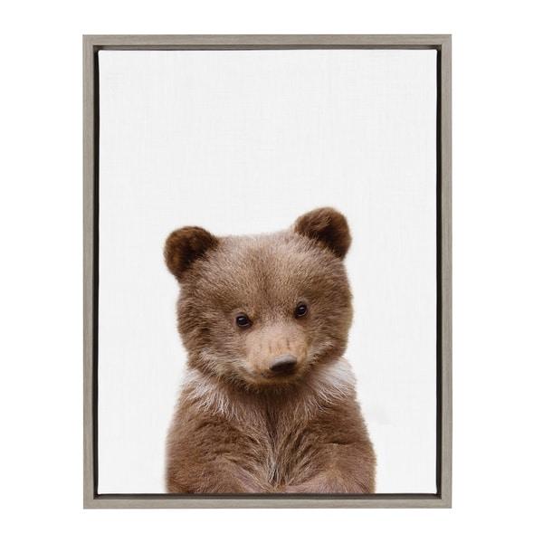 Shop Sylvie Baby Bear Animal Print Framed Canvas Wall Art by Amy ...