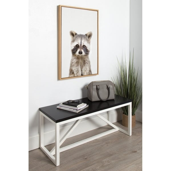 Kate and Laurel Sylvie Raccoon Framed Canvas by Amy Peterson. Opens flyout.