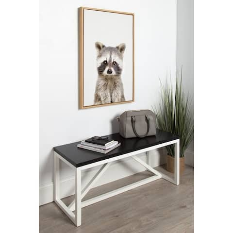 Kate and Laurel Sylvie Raccoon Framed Canvas by Amy Peterson