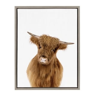 Link to Sylvie Baby Highland Calf Animal Print Framed Canvas by Amy Peterson Similar Items in Canvas Art