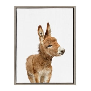 Sylvie Baby Burro Animal Print Framed Canvas Wall Art by Amy Peterson