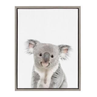 Sylvie Baby Koala Animal Print Framed Canvas Wall Art by Amy Peterson