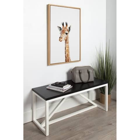 Kate and Laurel Sylvie Baby Giraffe Framed Canvas by Amy Peterson
