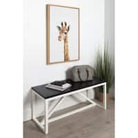 Sylvie Baby Giraffe Animal Print Framed Canvas Art by Amy Peterson