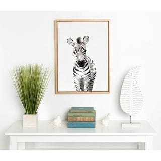 Link to Kate and Laurel Sylvie Baby Zebra Framed Canvas by Amy Peterson Similar Items in Canvas Art