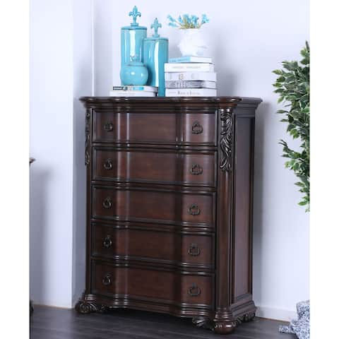 Furniture of America Hols Traditional Cherry Solid Wood 5-drawer Chest