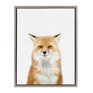 Link to Sylvie Studio Fox Animal Print Framed Canvas Wall Art by Amy Peterson Similar Items in Canvas Art
