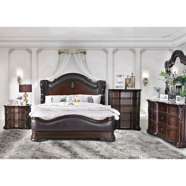 Shop Furniture of America Hols Traditional Cherry 2-piece ...
