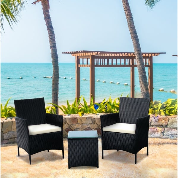 Beau IDS Home Patio Conversation Set With Coffee Table (3 Pieces)