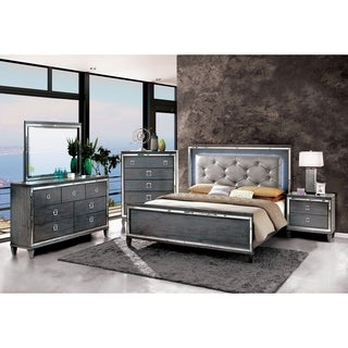 Furniture of America Curtis Contemporary Glam Grey 5-drawer Chest