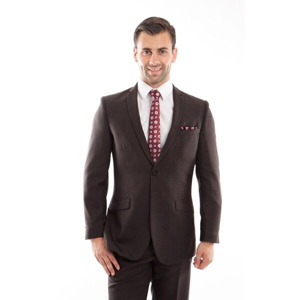 ce95230eb Shop Men Suit Plaid Grey Notch Lapel Slim Fit Mens Suits - On Sale - Free  Shipping Today - Overstock - 20091304