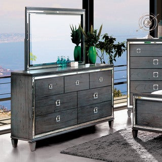 Furniture of America Drow Grey 2-piece Dresser and Mirror Set