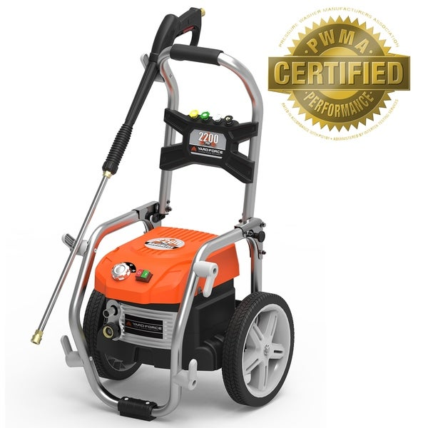 Yard Force 2200 PSI Brushless Electric Pressure Washer with Adjustable Pressure