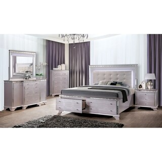 Furniture of America Diadem Glam Silver Rose 5-drawer Chest