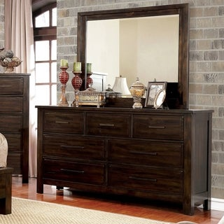 Furniture of America Lydell Transitional 2-piece Rustic Dresser and Mirror Set (2 options available)