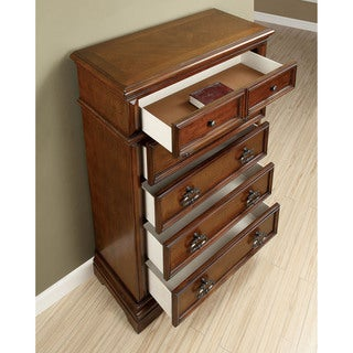 Furniture of America Zion Transitional Cherry 5-drawer Chest