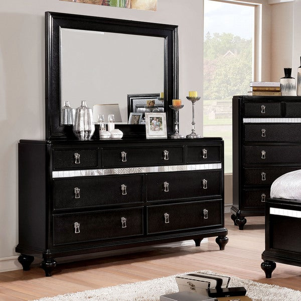 Furniture Of America Ayeda II Transitional 2 Piece Dresser And Mirror Set