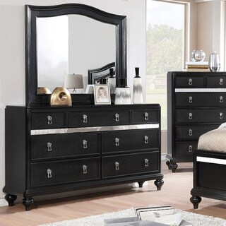 Furniture of America Ayeda I Transitional 2-piece Dresser and Mirror Set