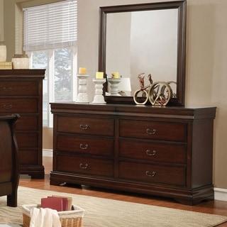 Furniture of America Anna Transitional 2-piece Dresser and Mirror Set