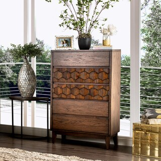 Furniture of America Curtiz Contemporary Laser Cut 5-drawer Chest