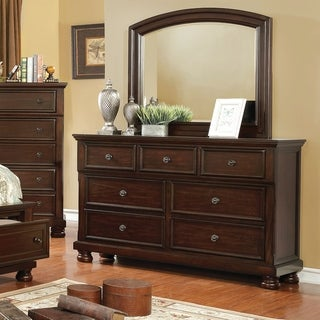 Furniture of America Muct Traditional 2-piece Dresser and Mirror Set