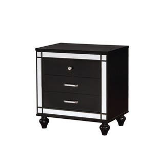 Furniture of America Petra Contemporary Crocodile Textured 3-drawer  Nightstand