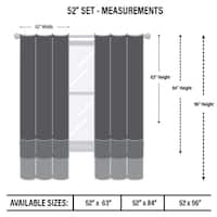 """InStyleDesign 52""""W x 84""""H Premium Heavy Duty Curtain with Grommet (1 Panel) - 52w x 84h"""