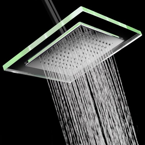 "AKDY SH0078 9"" Rainfall Shower Style Head Contemporary Modern Home Bathroom Luxury Square"
