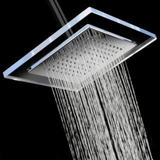 "AKDY SH0079 9"" Rainfall Shower Style Head Contemporary Modern Home Bathroom Luxury Square"