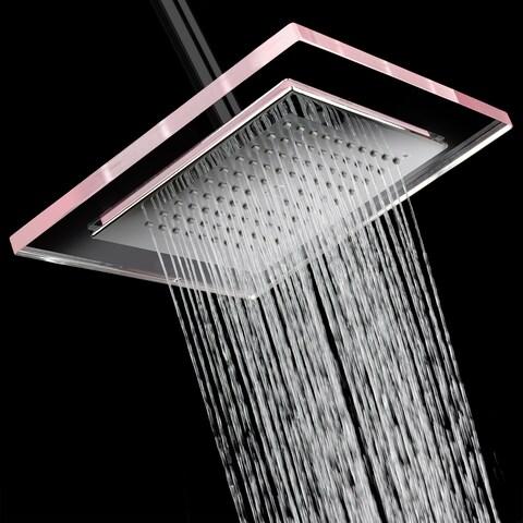 "AKDY SH0080 6"" Rainfall Shower Style Head Contemporary Modern Home Bathroom Luxury Square"