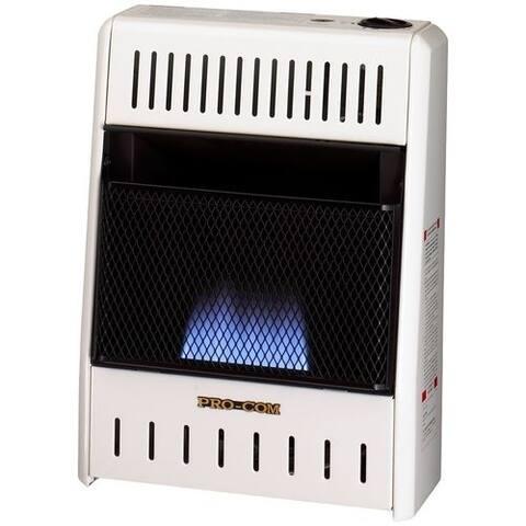 Procom Ventless Liquid Propane Gas Blue Flame Space Heater - 10,000 BTU, Manual Control