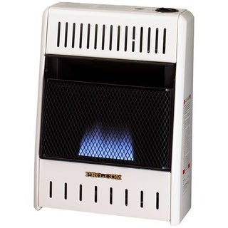 Procom Ventless Liquid Propane Gas Blue Flame Space Heater - 10,000 BTU, Manual Control