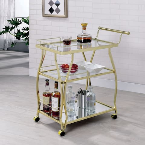 Audrey Contemporary Glam Serving Cart by FOA