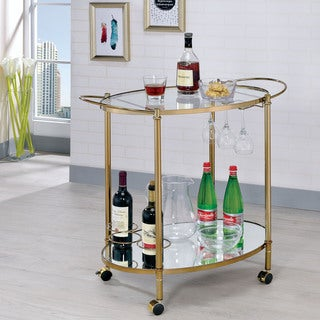 Furniture of America Maltesa Contemporary Glam Serving Cart (2 options available)