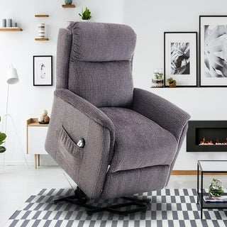 BONZY Lift Recliner Power Lift Chair Soft And Warm Fabric With Remote  Control For Gentle Motor