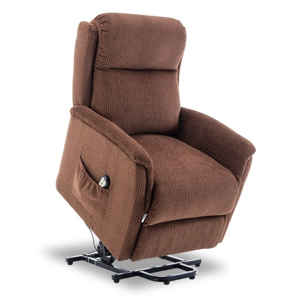 BONZY Lift Recliner Power Lift Chair With Remote Control   CHOCOLATE
