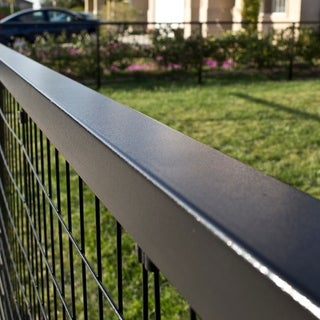 8 ft. x 1.8 in. x 2.5 in. Steel Top Rail